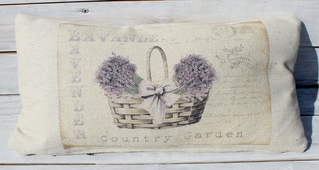 Country Garden Lavender Post Pillow