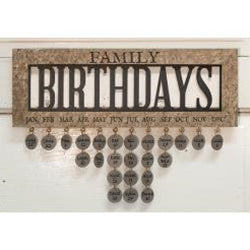 Family Birthday Calender