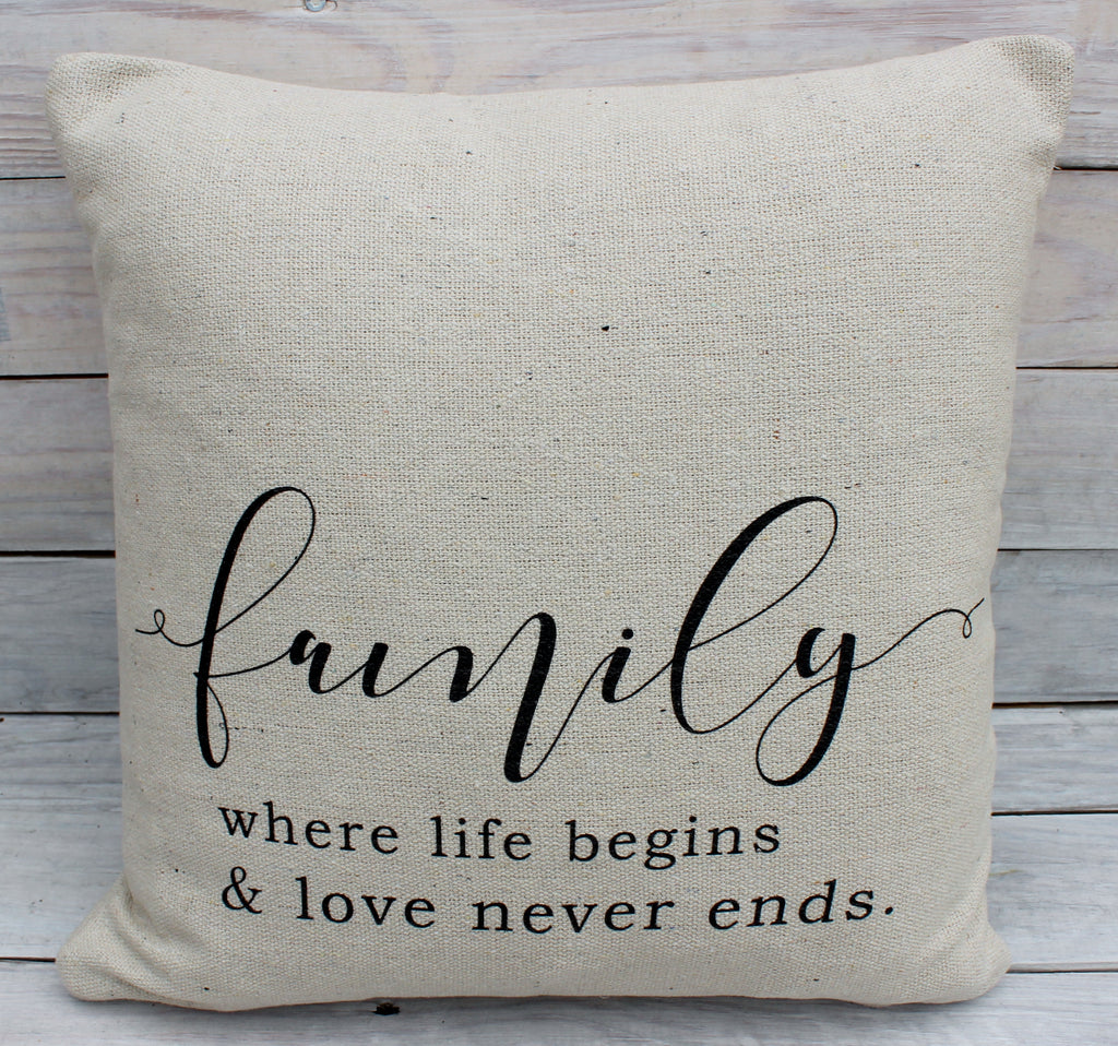 Family is Where 16x16 Pillow