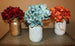 Mason Jar Box With 3 Flowers