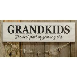 Grandskids Sign With Clothpins