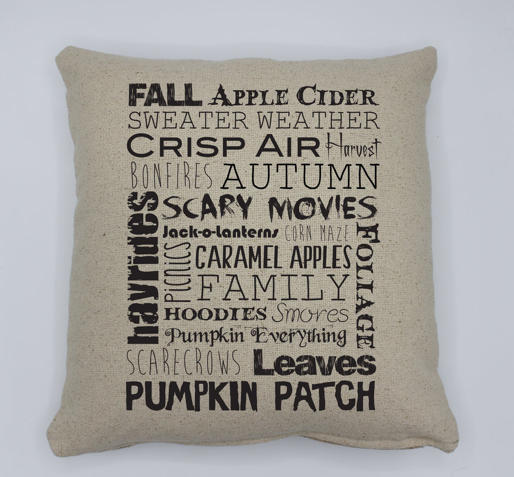 Fall Words Pillow