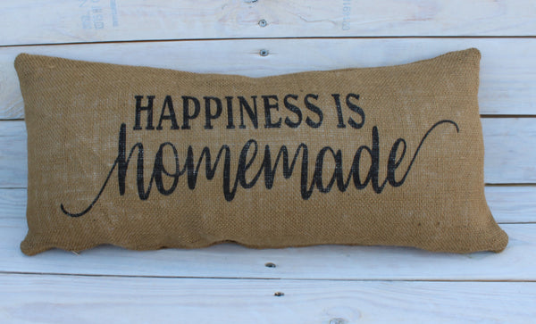 Happiness is Homemade 10x20 Pillow