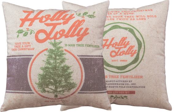 Holly Jolly Pillow Insert Included