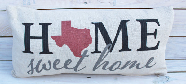 Home Sweet Texas Pillow