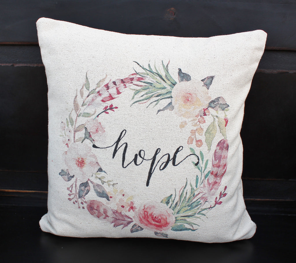 Hope Floral Pillow