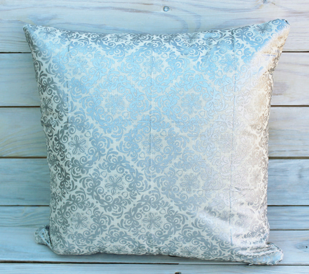 Silver Medallion Pillow
