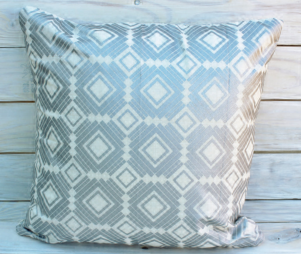 Silver Squares Pillow
