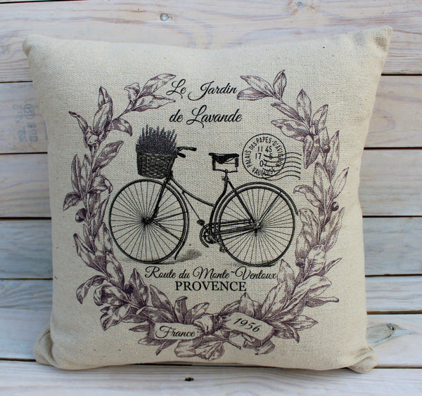 Lavender Wreath  Bike Pillow