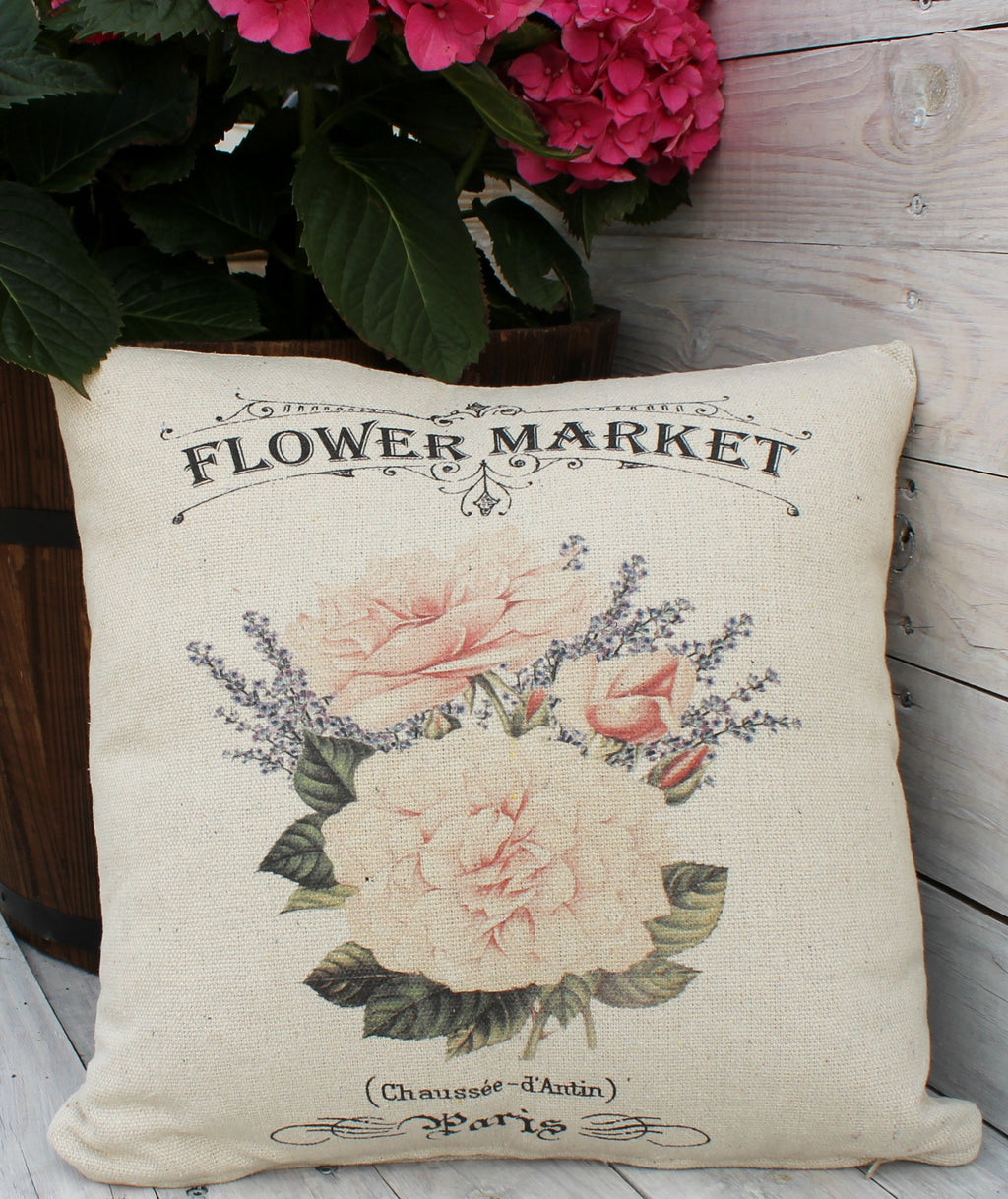 Roses and Lavender 16x16 Pillow