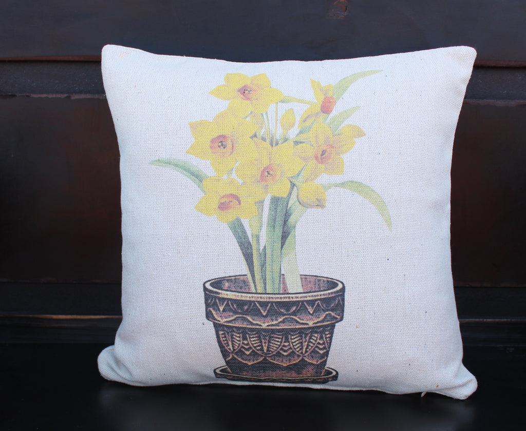Yellow Daffodils Pillow