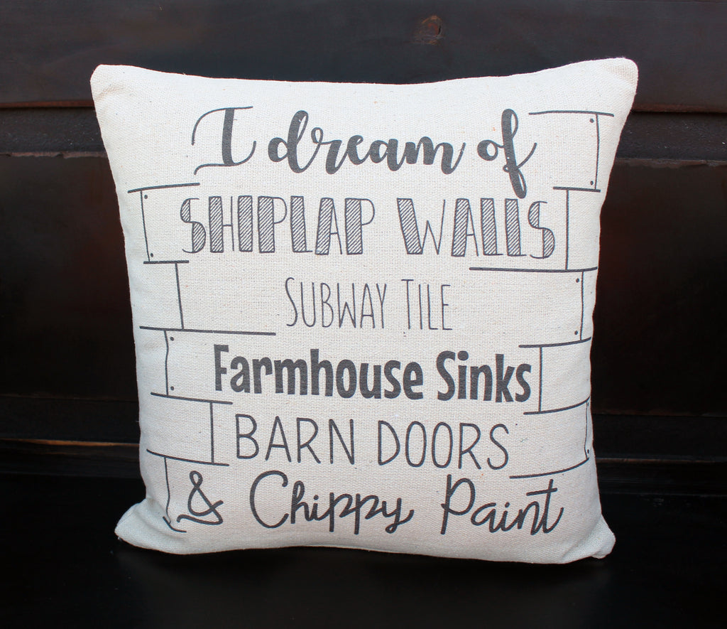 I Dream Shiplap Pillow