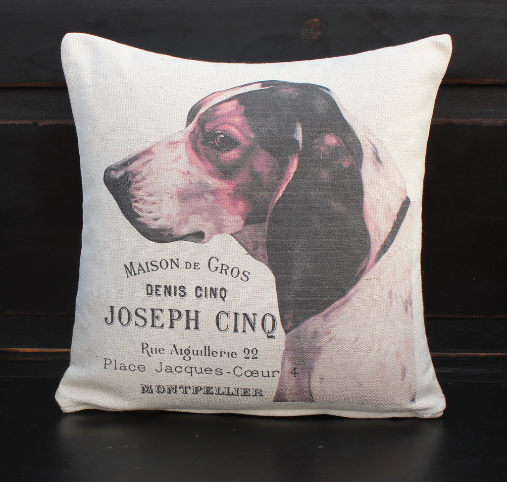 French Hound Pillow