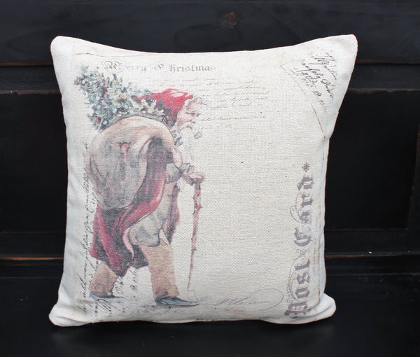 Santa with Presents Pillow