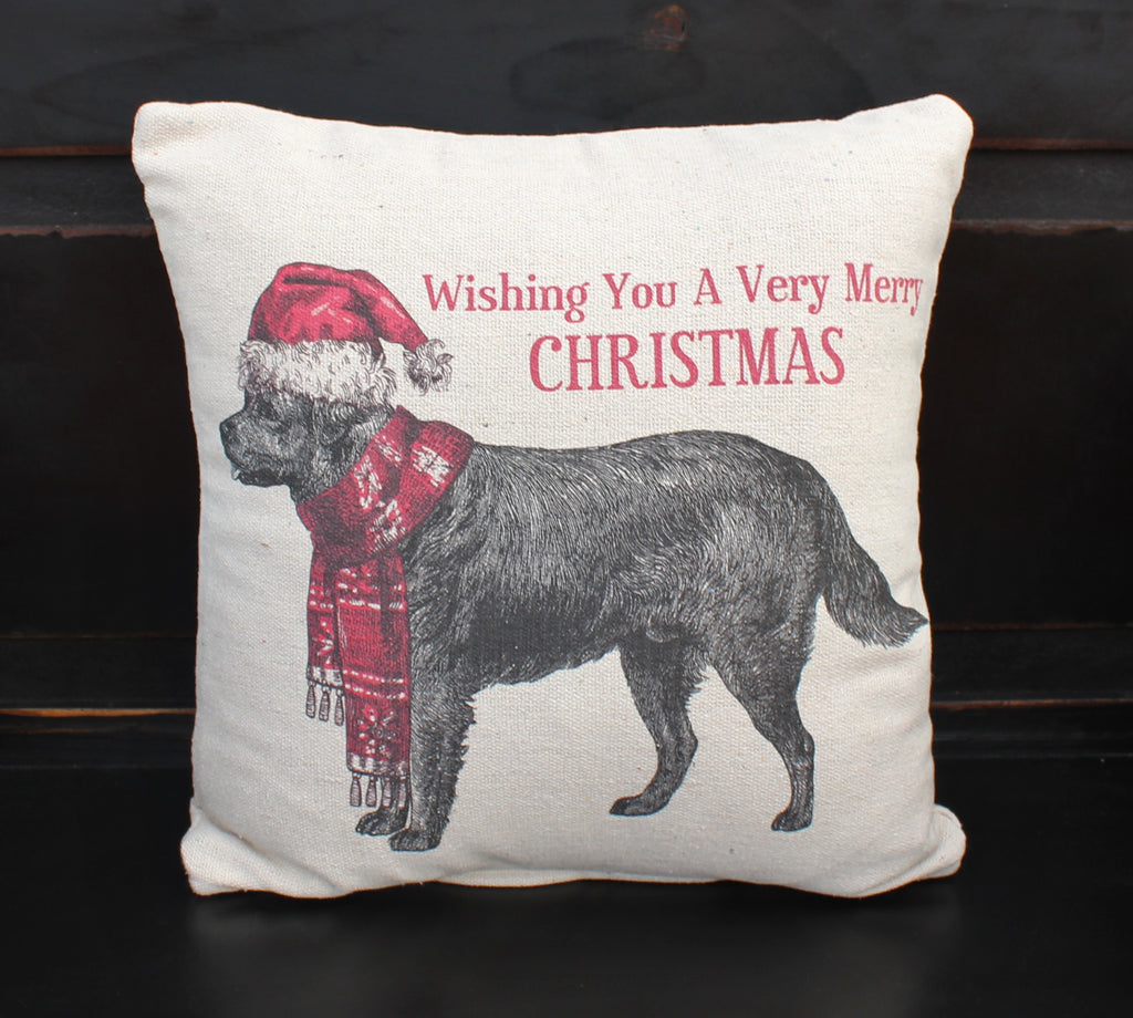 Lab Christmas Pillow