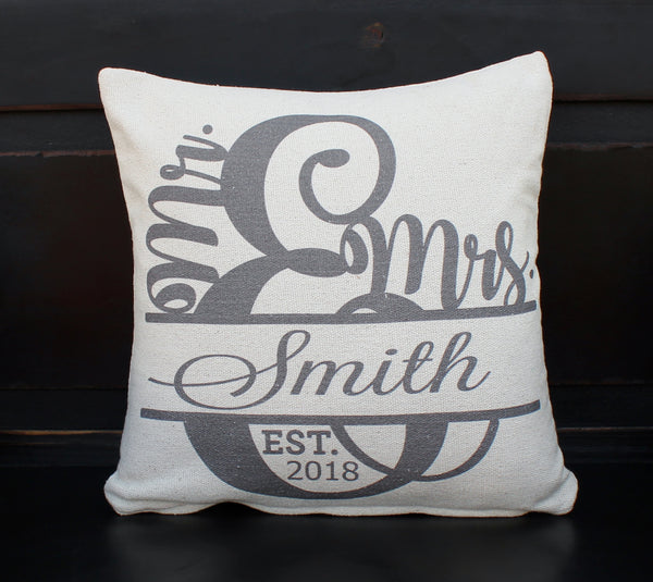 Mr. & Mrs Custom  Pillow