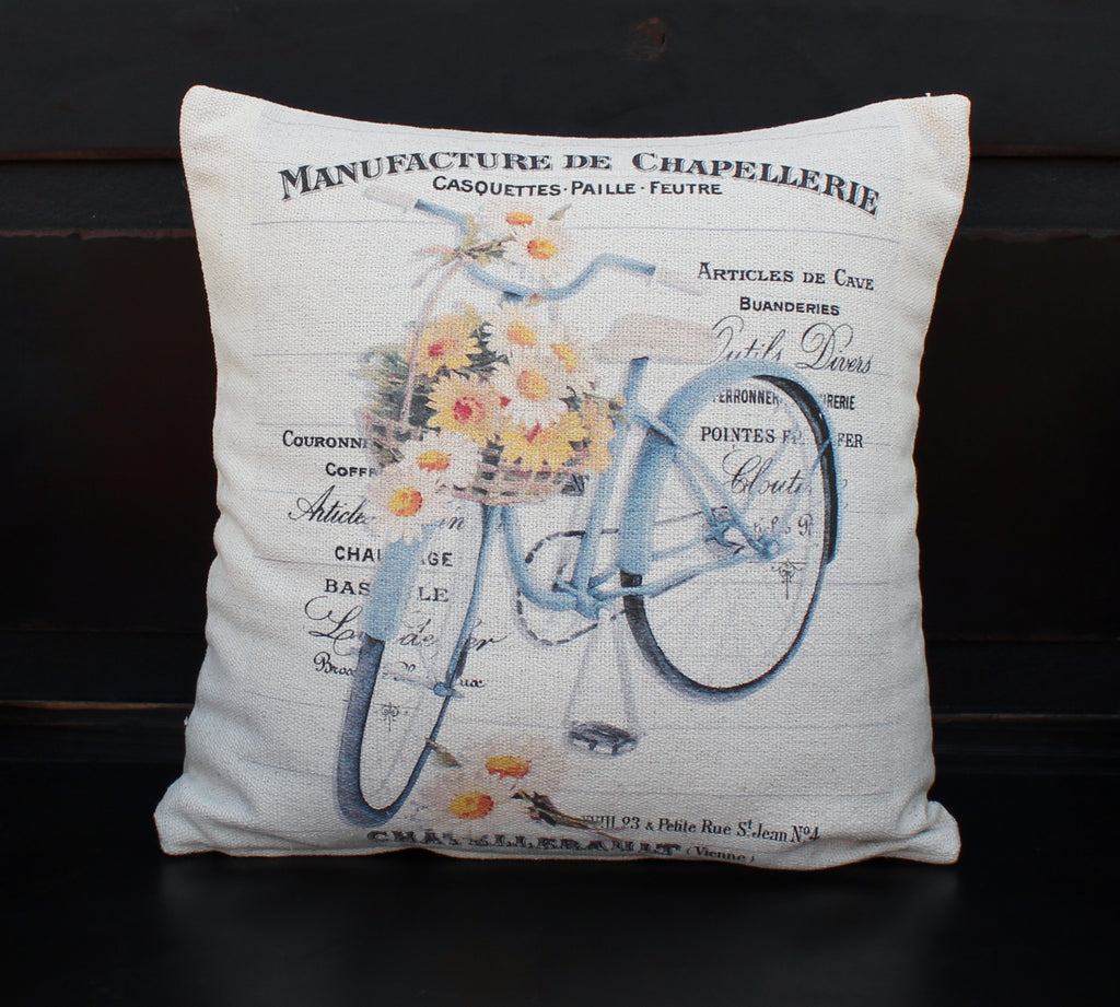 Daisy Bike  Pillow