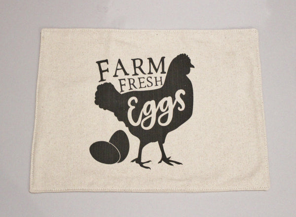 Farm Fresh Eggs Feed Sack Placemats Set of 4