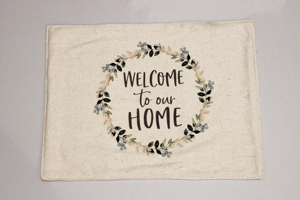Welcome To Our Home Feed Sack Placemats Set of 4