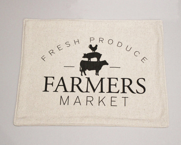 Farmer's Market Feed Sack Placemats Set of 4