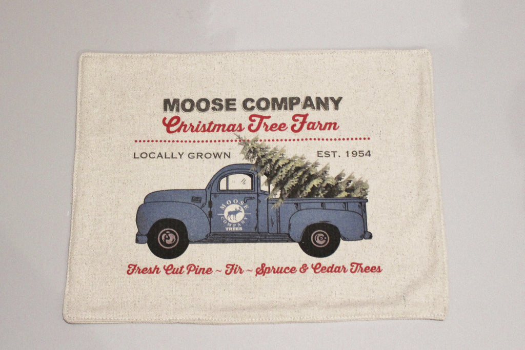 Blue Moose Truck Feed Sack Placemats Set of 4