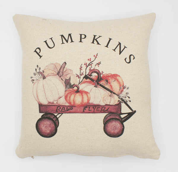Pumpkin Wagon Pillow