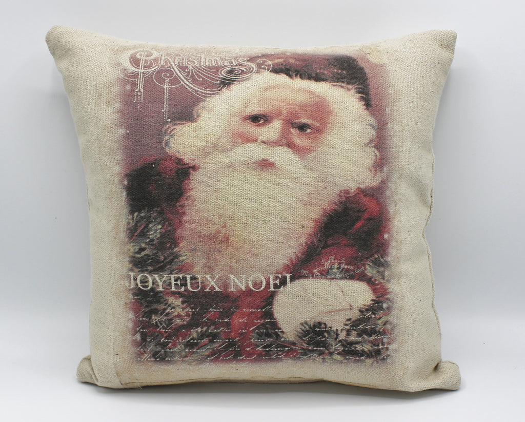 Vintage Jolly Santa Pillow