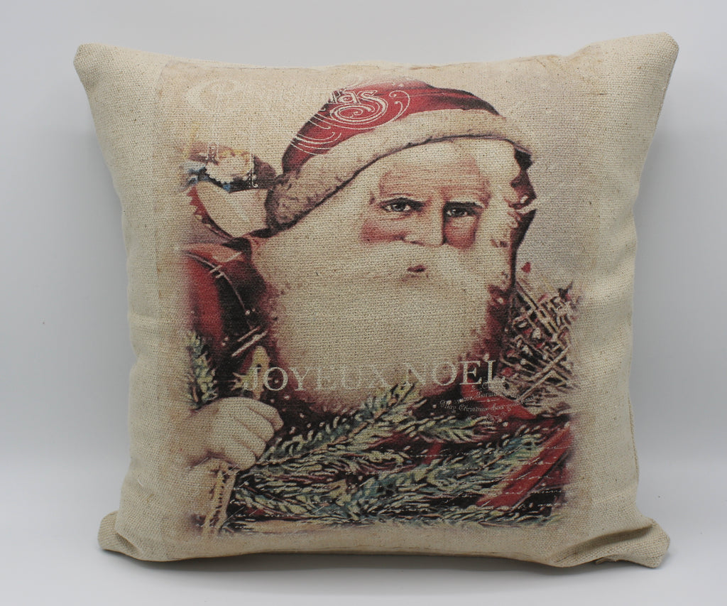 Vintage Santa With Presents Pillow