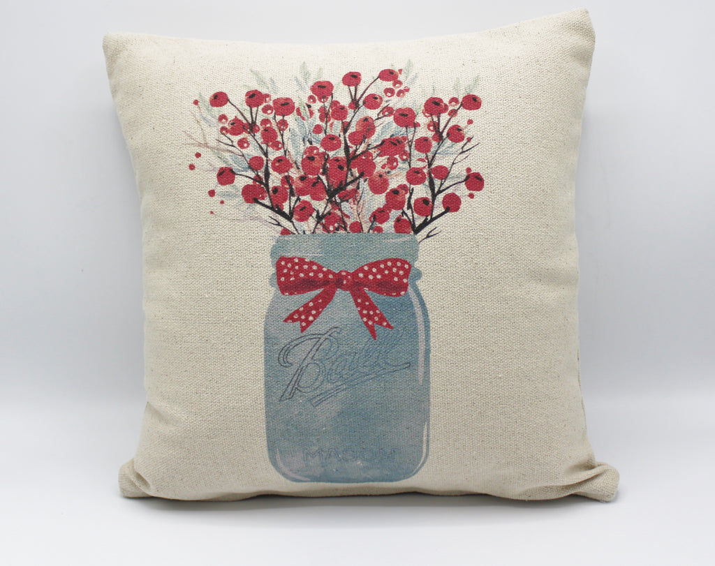 Berry Mason Jar Pillow