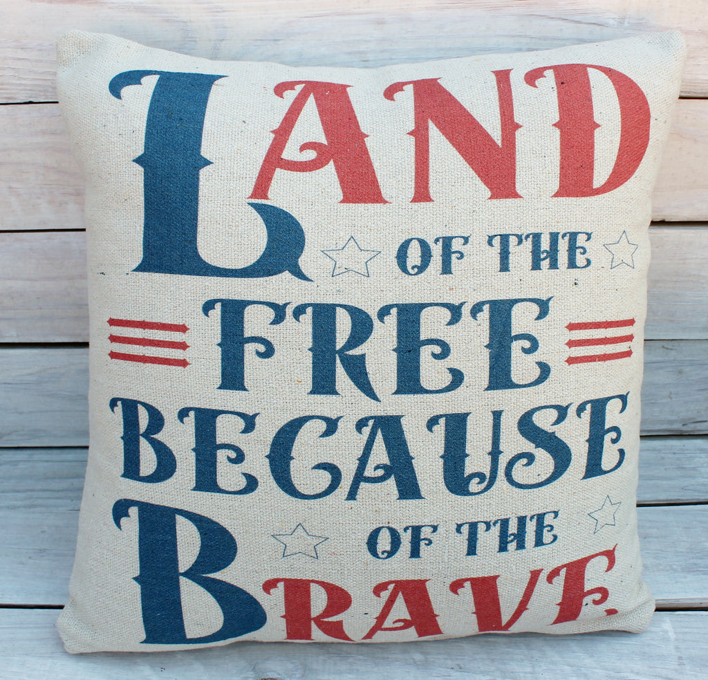 Land of Free 20x20 Pillow