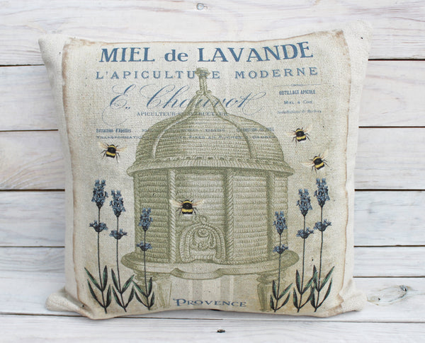 Lavender Bee Hive Pillow