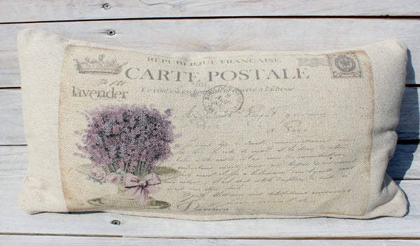 Lavender Carte Post Pillow