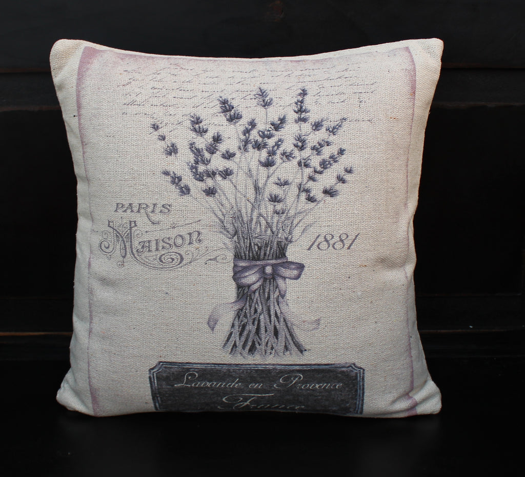 Lavender Paris Pillow