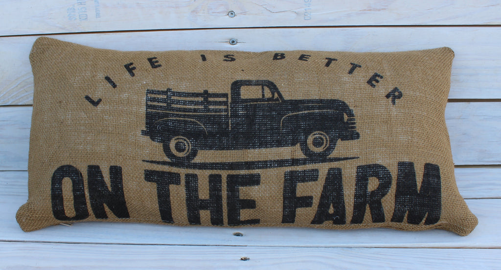 Life Is Better On The Farm 10x20 Pillow