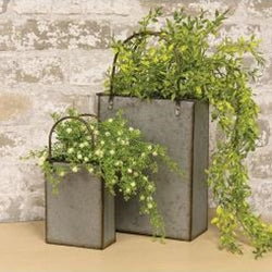Galvanized Metal Totes Set of 2