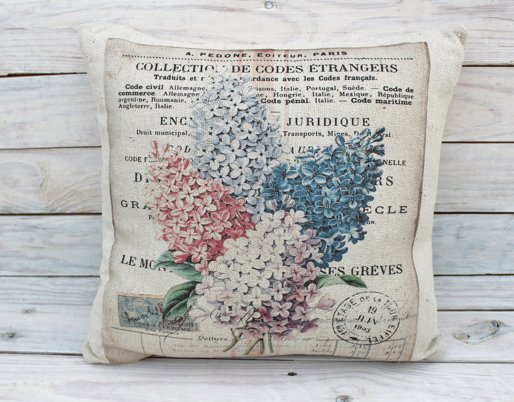 Multi Flower Post Pillow