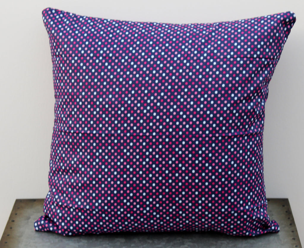 Pink & Navy Dot Pillow