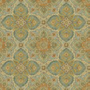 Olive Medallion Print Fabric