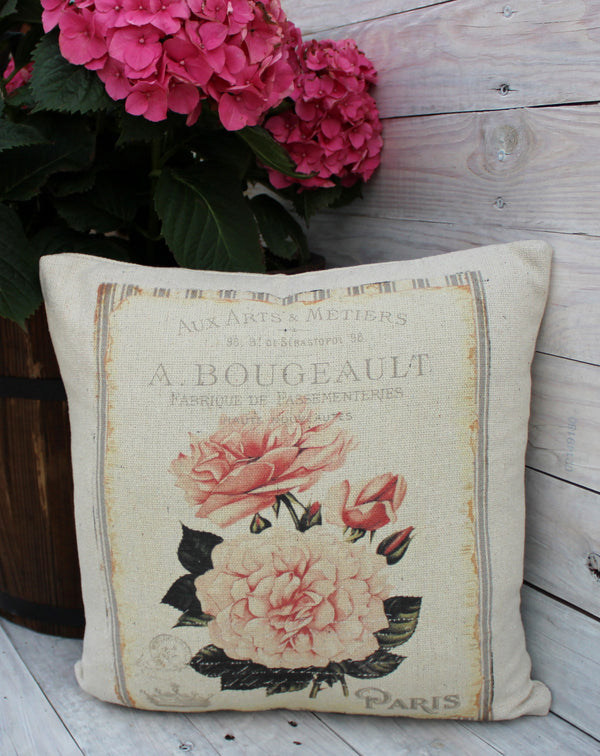 Paris Rose 16x16 Pillow