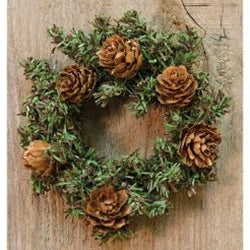 Pine Wreath With Cones Set of 2