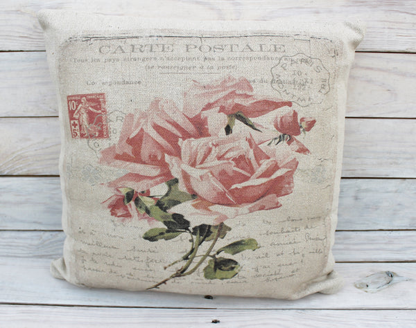 Pink Rose Post Pillow