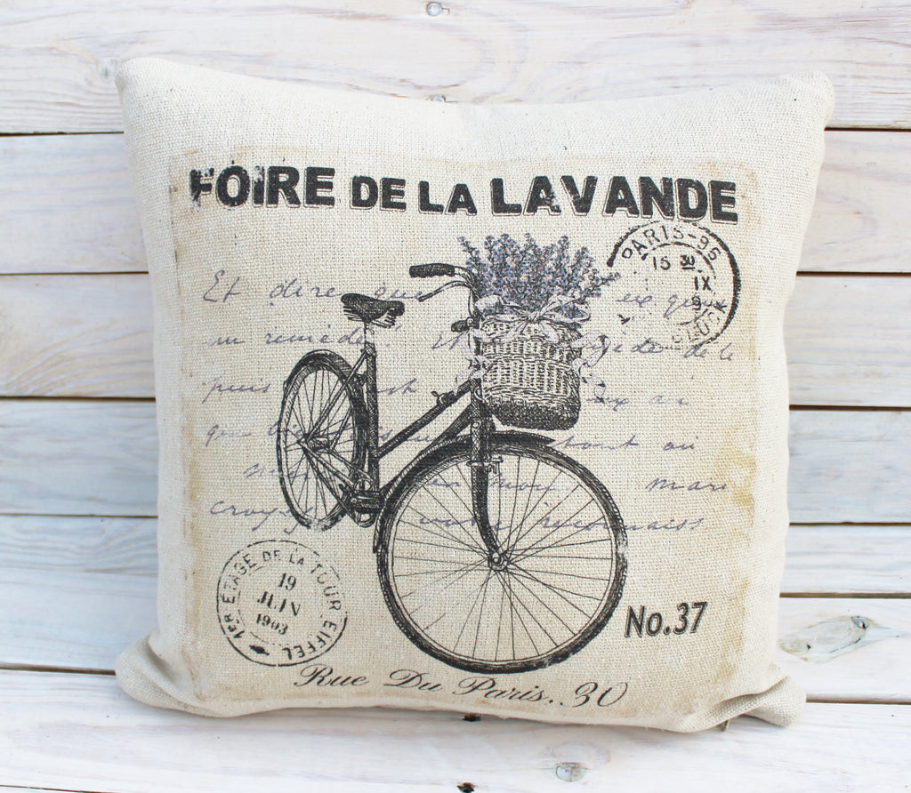 Vintage Lavender Bike Pillow #2