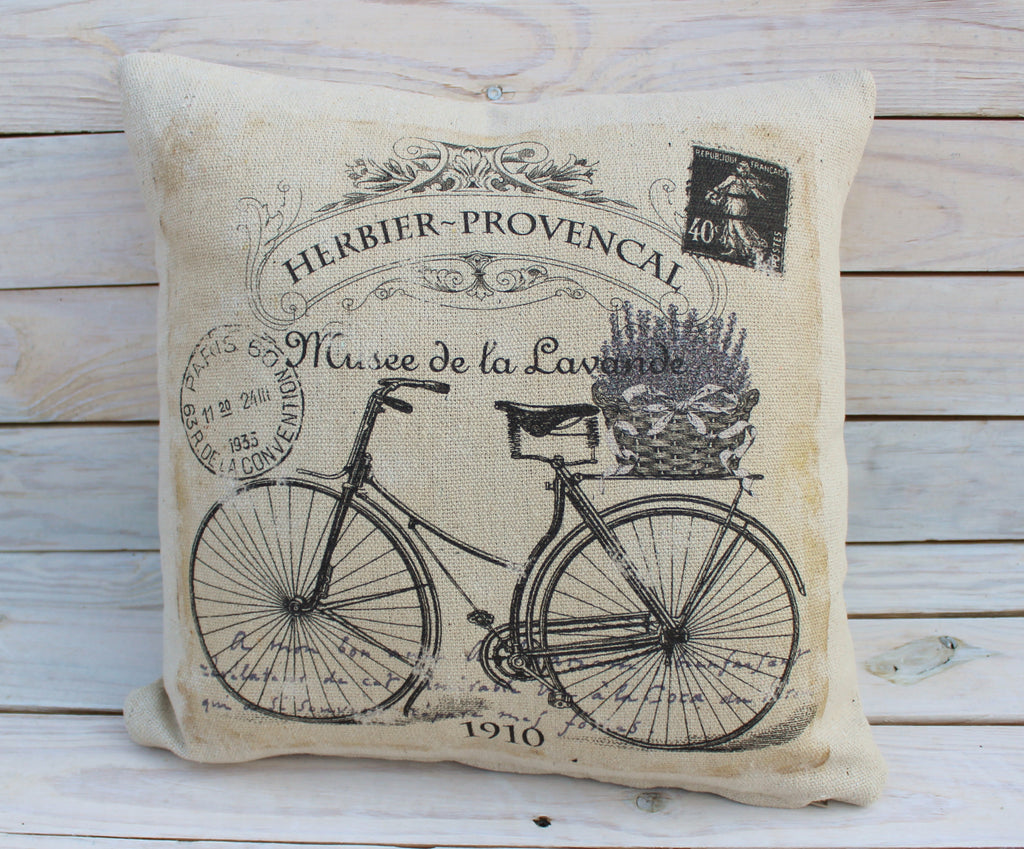 Vintage Lavender Bike Pillow #3