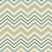 Spa/Taupe Chevron Fabric