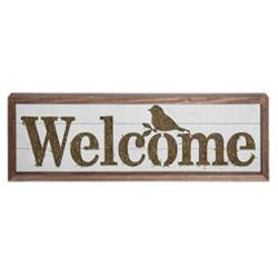 Welcome Moss Sign