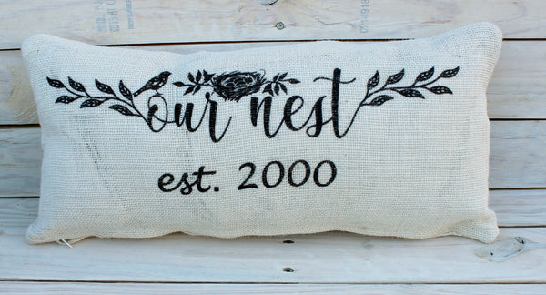 Our Nest Custom 10x20 Pillow