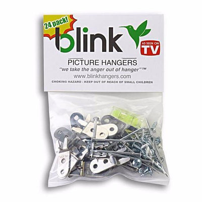 Blink Picture Hangers 24 Pack [Hangs 12 Frames]