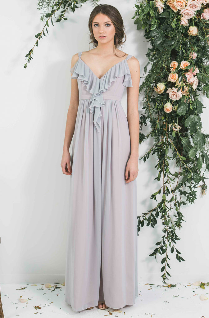 Quality Long Ruffle Neck Bohemian Style Victor Bridesmaid Dress you will wear again