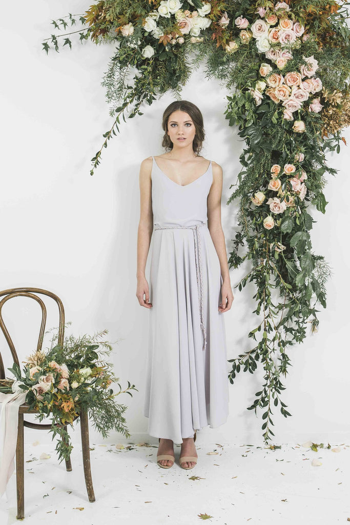 Quality Made in New Zealand Draped Blue Grey Victor Bridesmaid Blue Grey Bohemian Style Skirt you will wear again