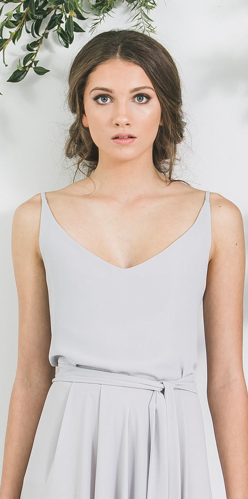 Quality Blue Grey Victor Bridesmaid Top you will wear again. Made in New Zealand